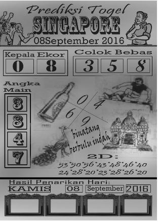 prediksi togel singapore kamis 08-09-2016 | Angkakembar.com